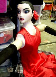 Female tango puppet