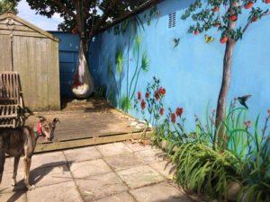 garden outdoor mural