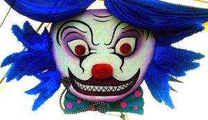 Masked Ball circus tent set painting