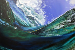Wave surf painting