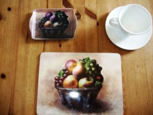 Fruit basket placemat and tray