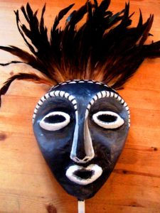 Completed African mask