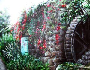 Cornish mill house painting