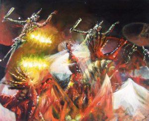 Night circus painting