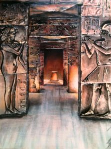Egypt temple painting