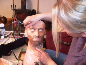 Painting the head