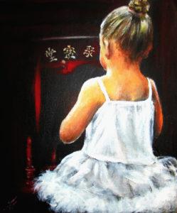 girl ballerina painting