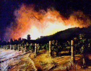Australia bushfire painting
