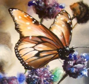 Butterfly flower painting