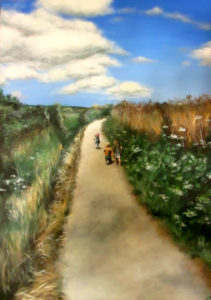 Cornish lanes children painting