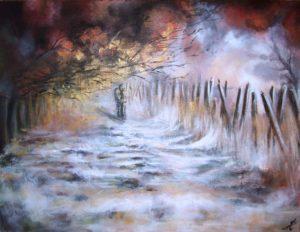 Pathay Autumn mist couple painting