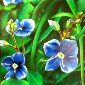 Periwinkle flower painting