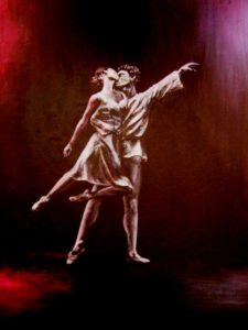 Ballet duo painting
