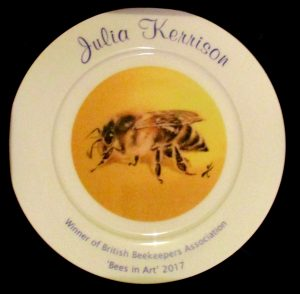 Bee painting award winning plate illustration