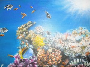 Tropical underwater painting