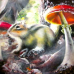 chipmunk forest painting