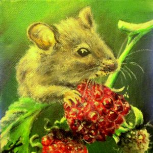 Mouse on Berries (SOLD)