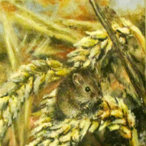 Fieldmouse on corn painting