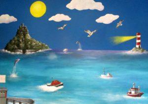 ocean mural sea bedroom children