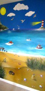 beach mural indoor bedroom children