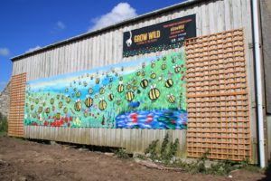 outdoor community mural bees