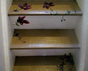 Clematis on stairs