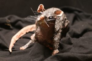 rat clay sculpture rodent scary