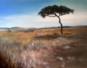 africa desert landsape safari masai mara Kenya landrover giraffes