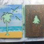 handmade books stitched recycled wooden covers hand painted