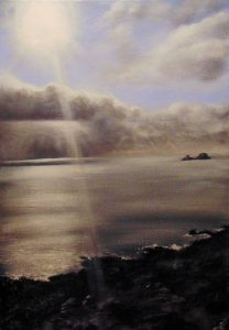 Cape Cornwall St Just cove sea seascape beach sunset twilight light