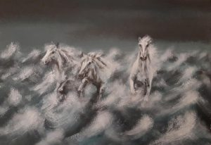 """Back to Lyonesse"". Original painting £325, limited mounted print (edition of 25) £40"