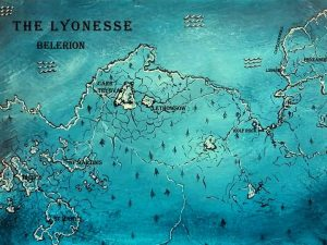 Map of Lyonesse (limited prints only, £15 each, edition of 25)