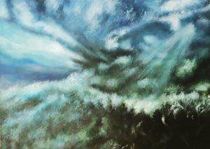 """Churnimg Seas"". Original painting £325, limited mounted print (edition of 25) £40"