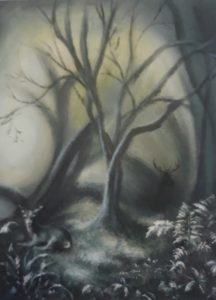 """Green Knowe"" (Acrylic on Canvas) SOLD. Also available as greetings cards and limited prints, edition of 25."