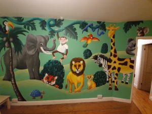 Children's bedroom, jungle theme