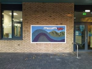 """""""Love, Learn, Live"""" mosaic mural, North Worcester Primary Academy"""